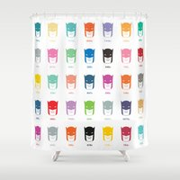 pantone Shower Curtains featuring Pantone Knight by James Northcote