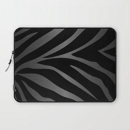 Black & Gray Metallic Zebra Print Laptop Sleeve
