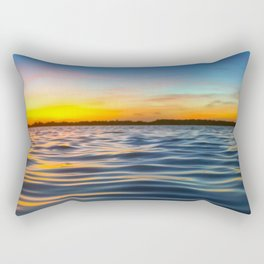 USA Photography - Sunset Over The Atlantic Ocean Rectangular Pillow