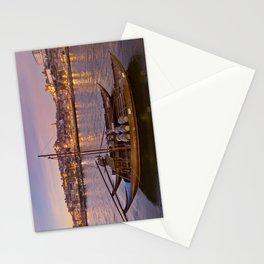 Port Wine barges, Porto at dusk Stationery Cards