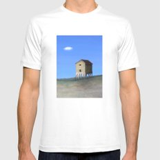 House Roots MEDIUM White Mens Fitted Tee