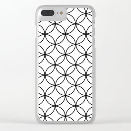 Circles Crossing - White Clear iPhone Case