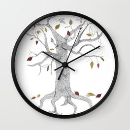Seasons Tree Wall Clock