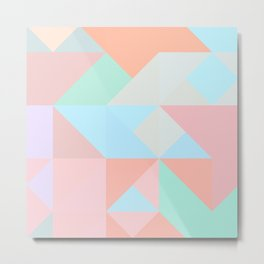 Pastel triangle Metal Print