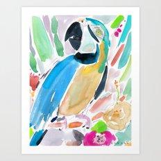 Indigo the Macaw Art Print