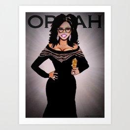 Tribute To Oprah Art Print