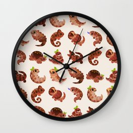 Chocolate Reptiles Wall Clock
