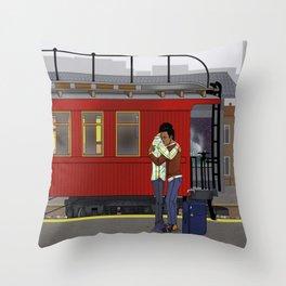 The Caboose Throw Pillow