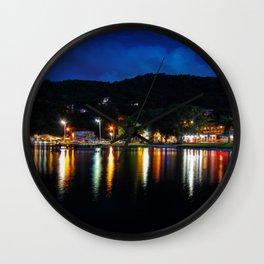 Lagoon Lights Wall Clock