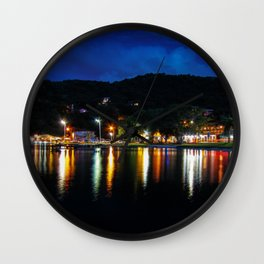 Lagoon Lights Wall Clock