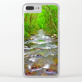 Smokey Mountain River Clear iPhone Case