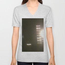 Abstracte Light Art in the Dark 1 Unisex V-Neck
