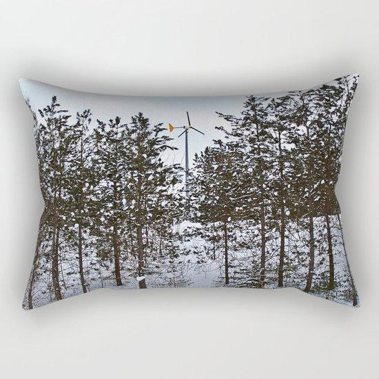 Windmill Through the Trees Rectangular Pillow