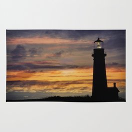 Newport Oregon - Setting Sun Rug