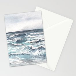 Ocean Watercolor Stationery Cards
