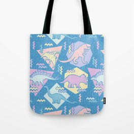 Nineties Dinosaurs Pattern  - Pastel version Tote Bag
