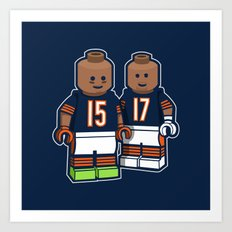 Bears Bricked: Brandon Marshall & Alshon Jeffery Art Print