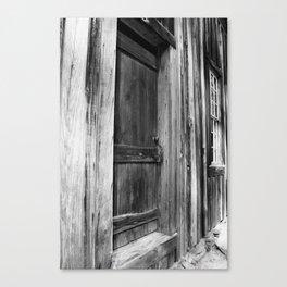 Door Between Shadows Canvas Print