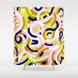Seigaiha Series - Congeniality Shower Curtain