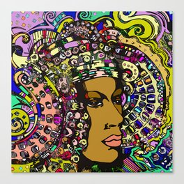 Lady of Elche (rainbow) Canvas Print