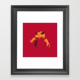 Pocket Cats Framed Art Print