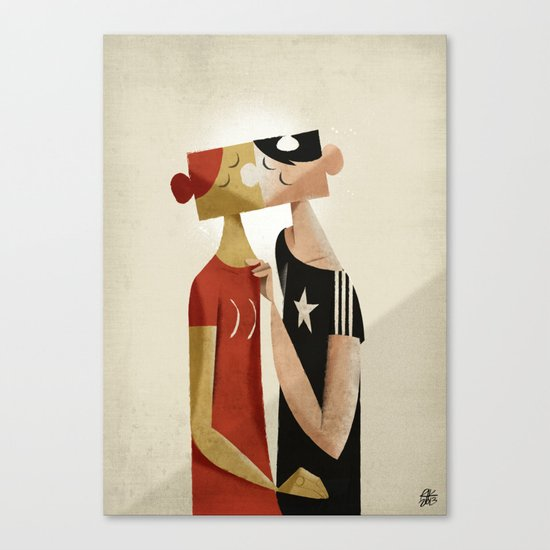 The puzzle Canvas Print