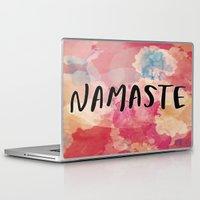 namaste Laptop & iPad Skins featuring Namaste by Laura Santeler