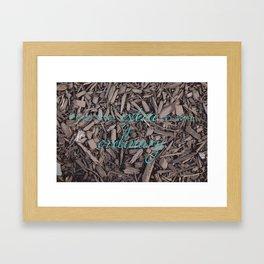 Extra Ordinary Framed Art Print