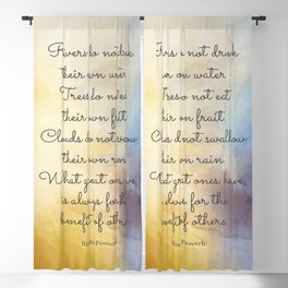 What great ones have, is always for the benefit of others.  Hindu Proverb Blackout Curtain