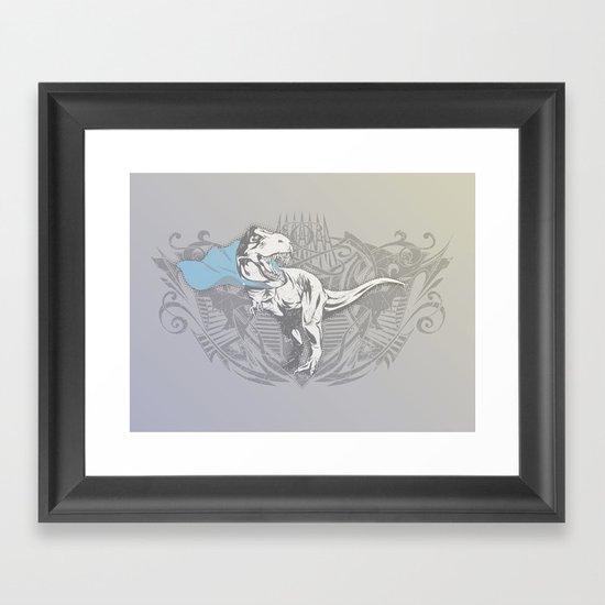 Fearless Creature: Rexy Framed Art Print