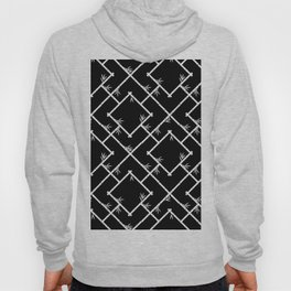 Bamboo Chinoiserie Lattice in Black + White Hoody