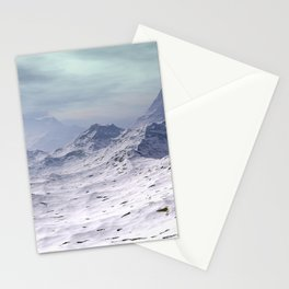 Snow Covered Mountains Stationery Cards