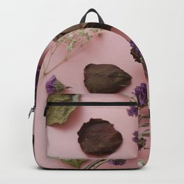 Flourish pattern in pink Backpack