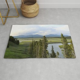 Yellowstone River Valley View Rug