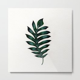 Monstera Ribcage Metal Print