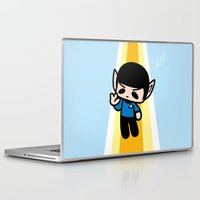 spock Laptop & iPad Skins featuring Spock by Ziqi