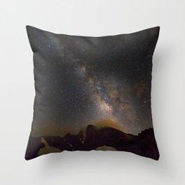 Milky way at 3400 meter hight. Scorpius and Sagitarius Throw Pillow