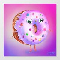 donut Canvas Prints featuring Donut by Zaksheuskaya