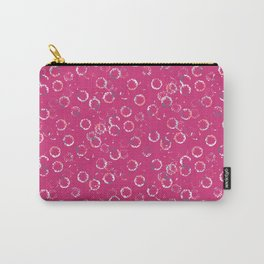 Polka Dots Stamps on Pink Yarrow Carry-All Pouch