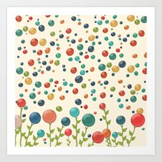The Gum Drop Garden Art Print