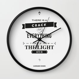 Leonard Cohen, Motivational Quote Wall Clock