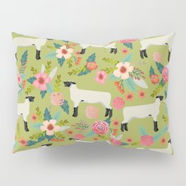 Show Lamb farm floral gifts homesteader farming sheep lamb animal Pillow Sham