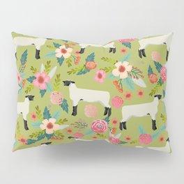 Show Lamb farm floral gifts homesteader farming sheep lamb animal Pillow Sham