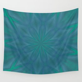 Aurora In Teal Blue and Green Wall Tapestry