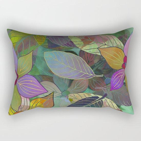 Floral Pattern 7 Rectangular Pillow