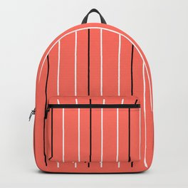Line ligné 4 coral prince  of wales check Backpack