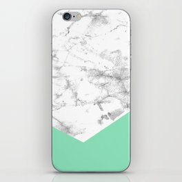 Geometric Watercolour Marble iPhone Skin
