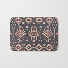 Trendy tribal geometric rose gold pattern Bath Mat