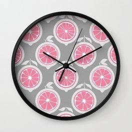 Pink Lemon Mod Wall Clock