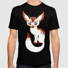 Mysterious Fox Black X-LARGE Mens Fitted Tee